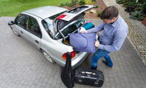 Customer can pack belongings in vehicle